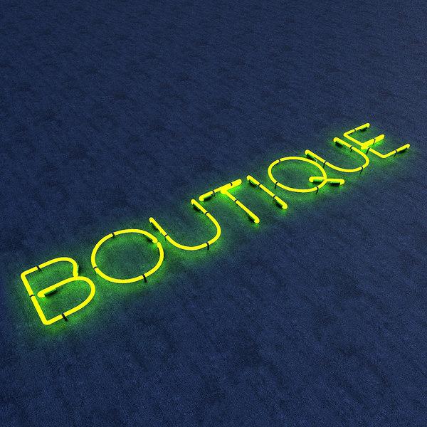 boutique neon sign model