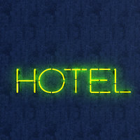 3D hotel neon sign