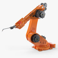 3D model industrial robot rigging