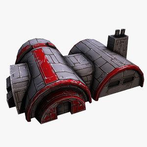 3D scifi barracks