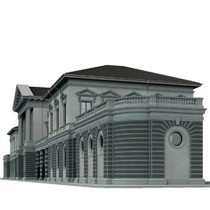 neoclassical building 3D model