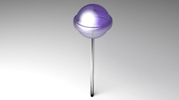 lollipop tootsie 3D model