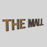 3D mall sign bulb