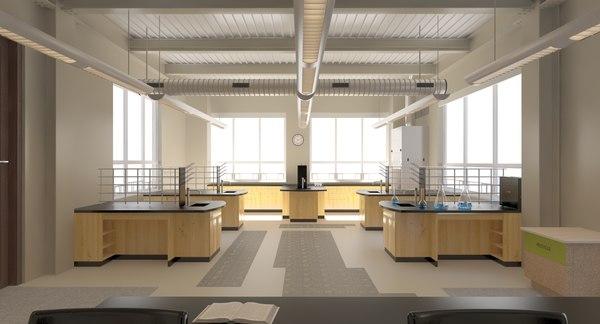 3D model lab scene