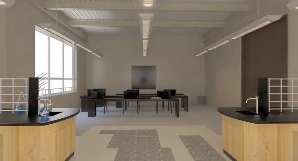 3D lab scene