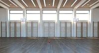 School of Arts Basketball Arena Interior Scene model V3