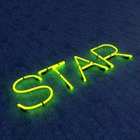 3D model star neon sign