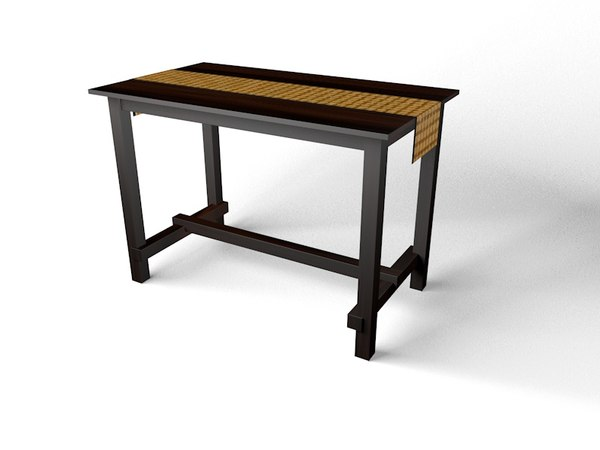 tall dining table 3D