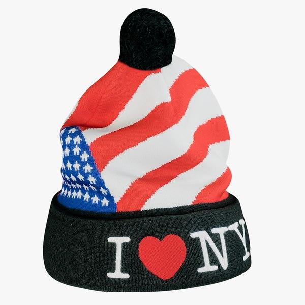 realistic hat love ny 3D model
