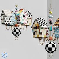 3D mackenzie childs chandelier model
