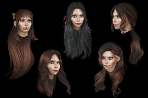 3D set female hairstyle 5