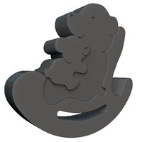3D model mother bear family puzzle