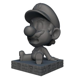 mario bobble head 3D model