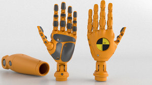 crash test robot android 3D