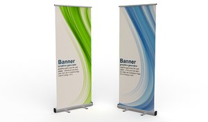 3D model roll-up stand