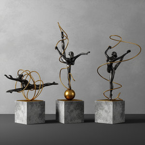 deco sculpture 3D