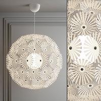 3D maskros pendant lamp
