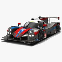 3D wulver racing imsa prototype model