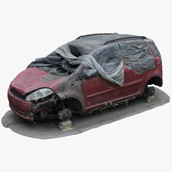 wrecked car 5 3D model