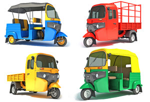 3D auto rickshaw model