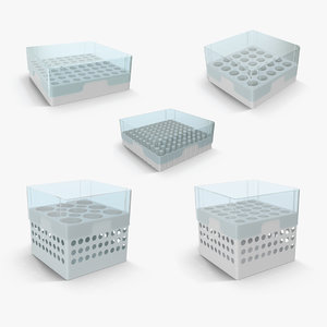 eppendorf storage boxes 3D