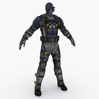 sci fi soldier type 3D