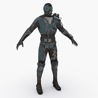 3D sci fi soldier type