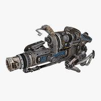 3D model sci-fi weapon type 3