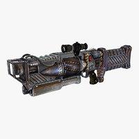 sci-fi weapon type 4 3D
