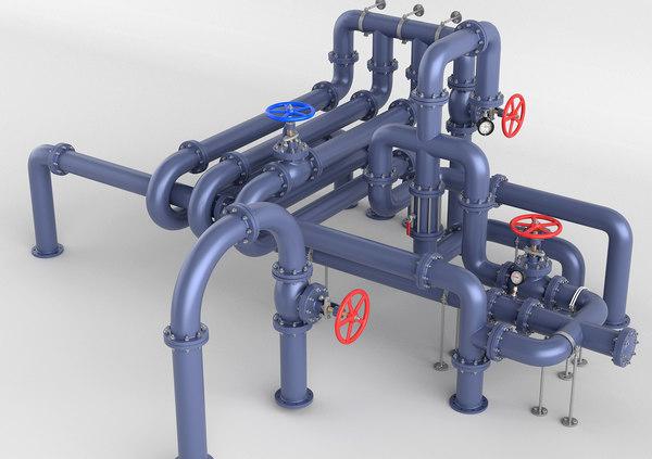 tubes pipes 3D model