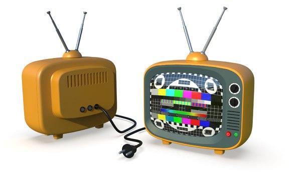3D cartoon tv toon model