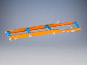 chassis modeled 3D model