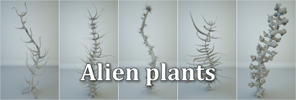 alien plants 3D