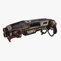 3D sci-fi weapon type 9