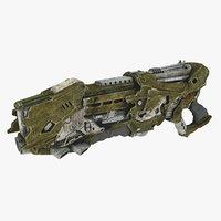 3D model sci-fi weapon type 7 gun