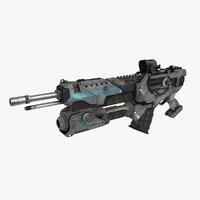 3D sci-fi weapon type 6