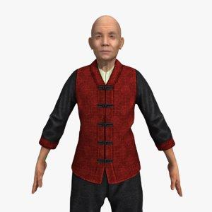 kung-fu master rigged 3D