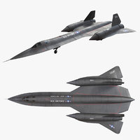 lockheed sr-71 sr 3D model