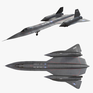 lockheed sr-71 sr 3D model