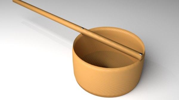 wooden dipper 3D model