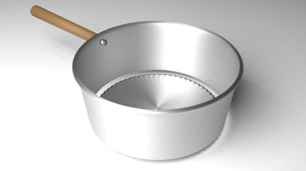steel dipper 3D model