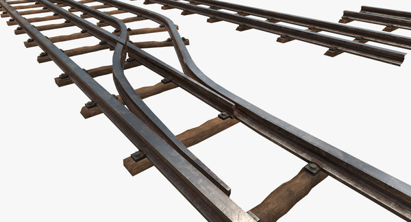 3D railway rail tracks