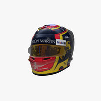 3D albon 2019 helmet model