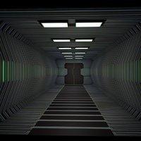 3D sci fi corridor model