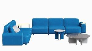 arcolor sofa designed jaime 3D