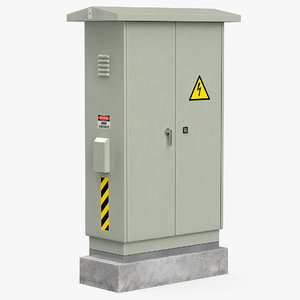 electrical box 3D model
