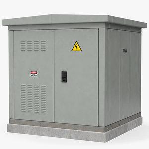 3D model electrical box