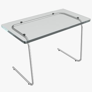 glass desk model