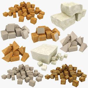 3D model realistic tofu