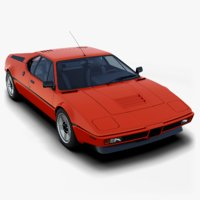 3D classic concept car italdesign
